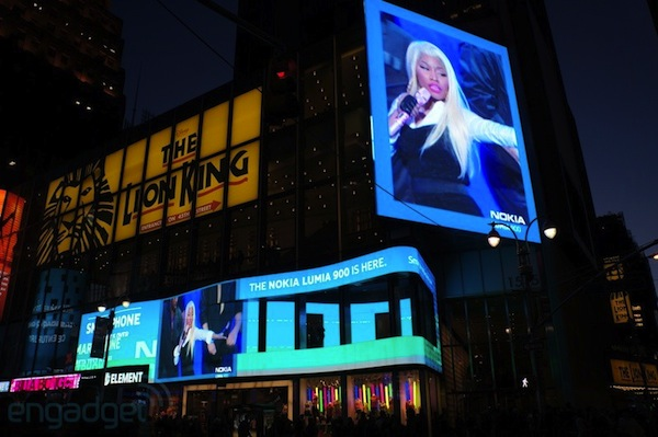 Nokia takes over Times Square for Lumia 900 launch event