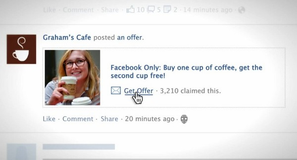 Facebook Offers starts rolling out, spamming your news feed with coupons