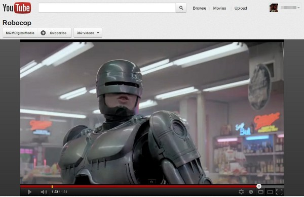 4 16 2012robocop MGM delivers 600 movies to YouTube and Google Play, gives you one more place to watch Robocop