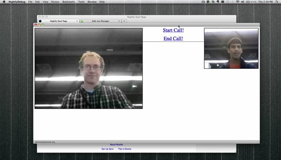 Mozilla demos WebRTC integration, browser-powered videochat