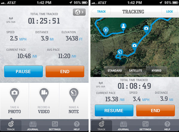 columbia s gps pal app for android and ios logs your hikes geotags memories