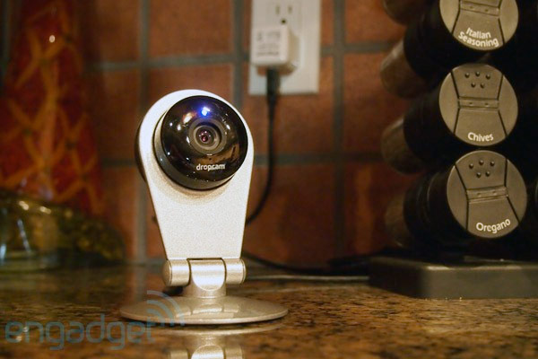 Dropcam HD WiFi monitoring camera now shipping