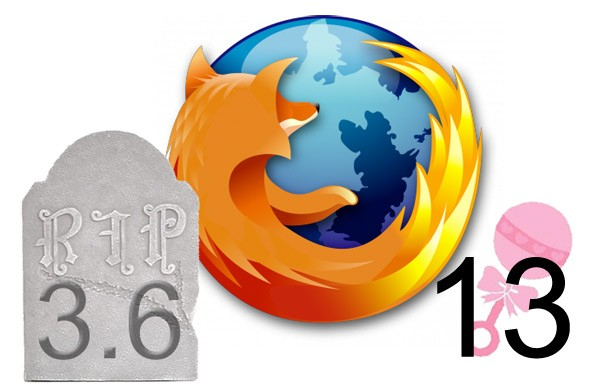 Mozilla dispatches Firefox 3.6, fills its chair with version 13 beta