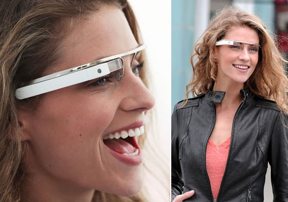 google augmented reality lady Google testing heads up display glasses in public, wont make you look like Robocop