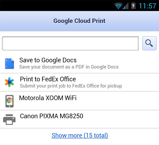 google cloud print Google Cloud Print adds FedEx, Canon to remote printing roster, throws Android users a PDF bone