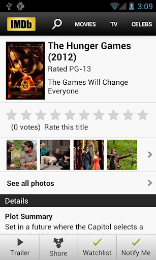 IMDb updates Android app, now lets you watch 720p trailers