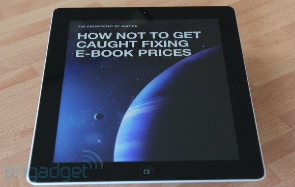 Justice Department formally charges Apple, big five publishers in e-book price fixing case (update)