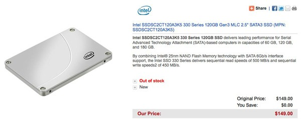 Intel 330 SSD leakage hints at bargain price tag, perhaps just $149 for 120GB