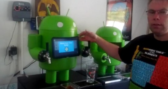 KegDroid dispenses beer with the help of a Xoom tablet and an Arduino board