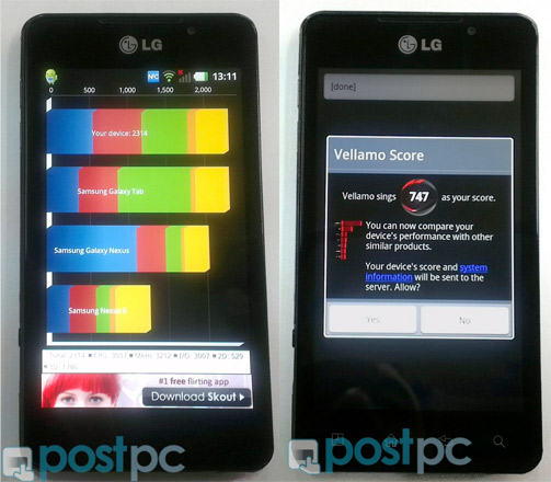 LG Optimus 3D Max wages a dual-core war in benchmark tests
