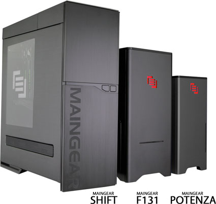 Maingear F131, Potenza and Shift