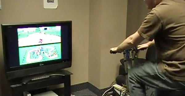 Exercise bike gets hooked up to original Mario Kart, Rainbow Road shortcut still tricky (video)
