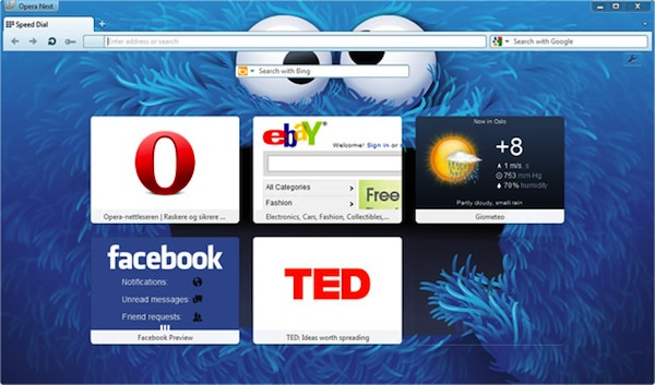 Opera 12 opens its beta doors: improves performance and stability, adds new themes