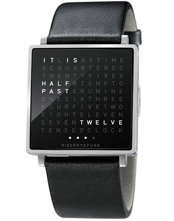 Biergert &amp; Funk bring the literal time to your wristwatch with QLOCKTWO W