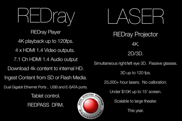 RED teases 4K REDray player and Laser projector for the theater / millionaire set