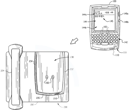 RIM patent application ponders desk dock for your BlackBerry