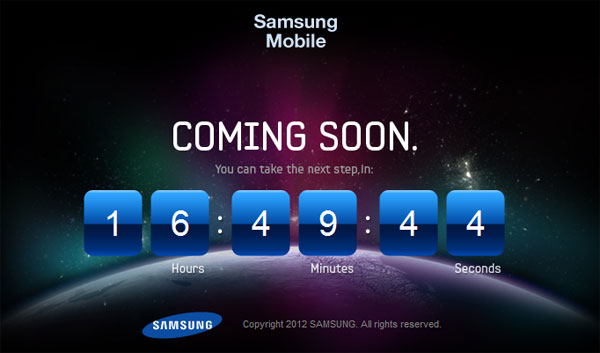 Samsung Galaxy countdown teases you with anagrams