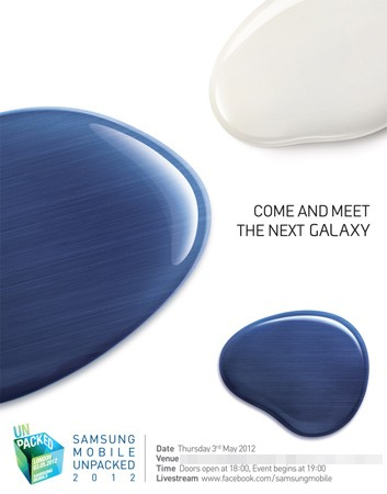 Samsung will unveil the next Galaxy phone May 3rd in London