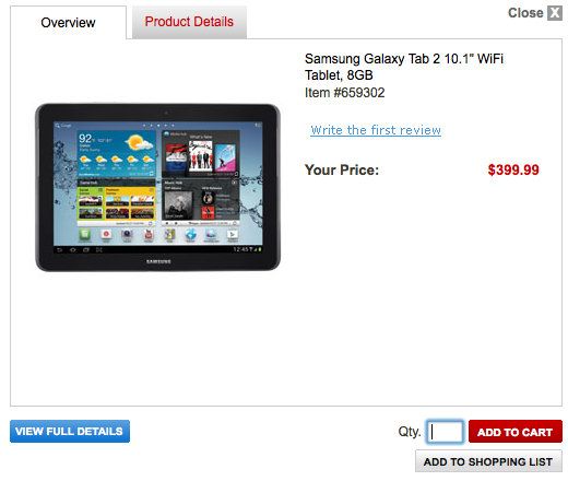samsung galaxy tab 2 10.1 leak office depot