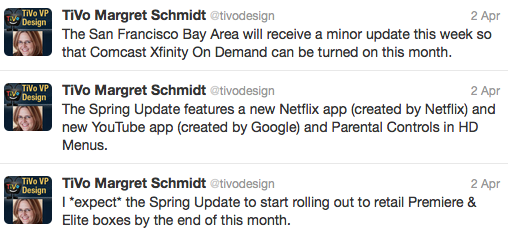 TiVo Premiere updates coming with new Netflix and YouTube apps; Bay Area gets Comcast VOD