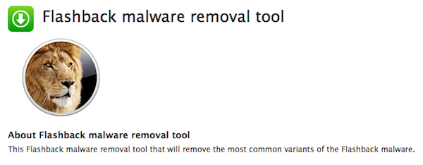 Apple issues Flashback removal tool for 10.7 Lion systems not running Java
