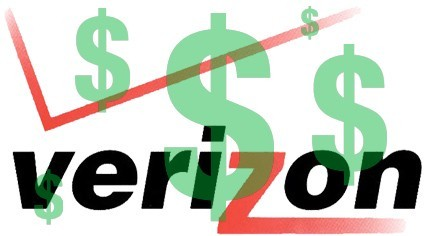 Verizon quarterly financials for Q1 2012
