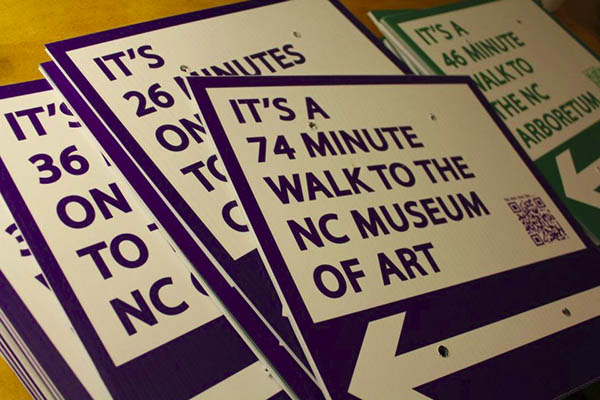 Guerilla urbanism campaign walks the walk in Raleigh with QR code signs