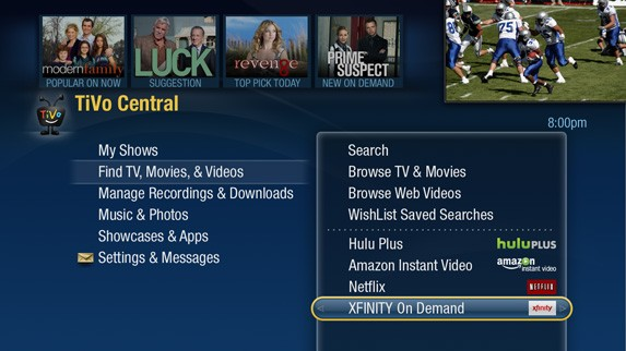 TiVo DVRs in the Bay Area updated with Comcast video on-demand starting today