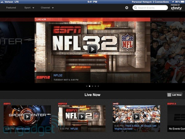 WatchESPN finally streams to Comcast customers, but not on Android