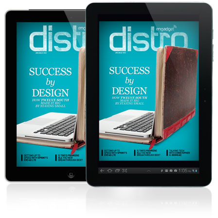 Distro Issue 41 features a visit to the Lowcountry home of Twelve South, TiVo Premiere XL4 and HTC EVO 4G LTE