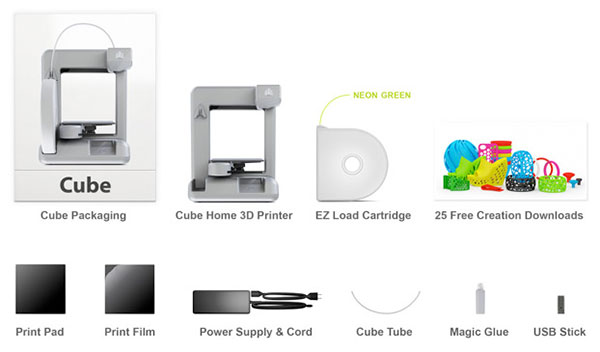 Cubify 3D Printer up for preorder, May 25th release date