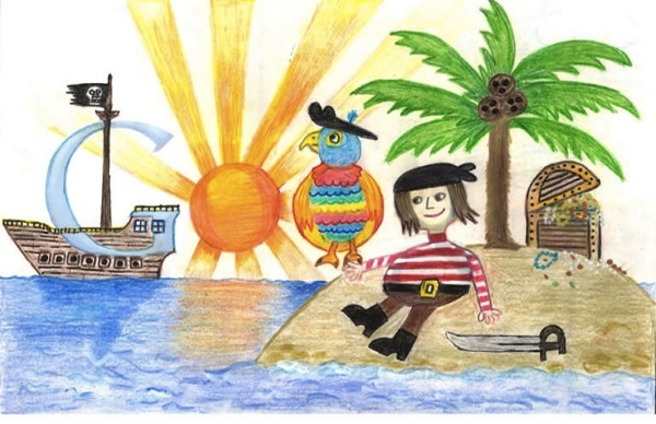 Doodle 4 Google winner cashes in with 'Pirate Times' drawing, finds a Chromebook in the treasure chest