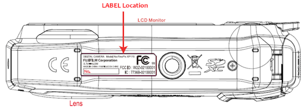 Fujifilm FinePix XP170 rugged camera pays a visit to the FCC, leaves raincoat behind