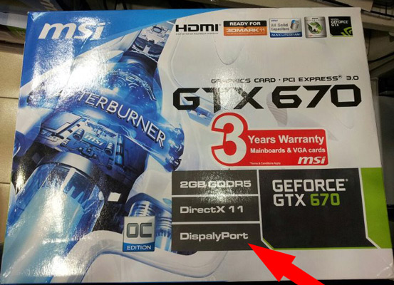 NVIDIA GTX 670 spotted in Malaysia: either it's fake or MSi can't spell