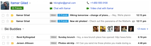 Google's latest Gmail tweaks bring contact's info to search results, enhanced Circle integration