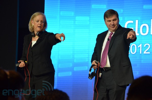 Meg Whitman and Todd Bradley in Shanghai
