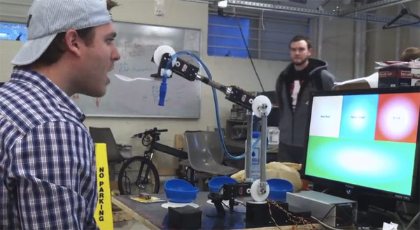 Northeastern University students develop eye controlled robotic arm that