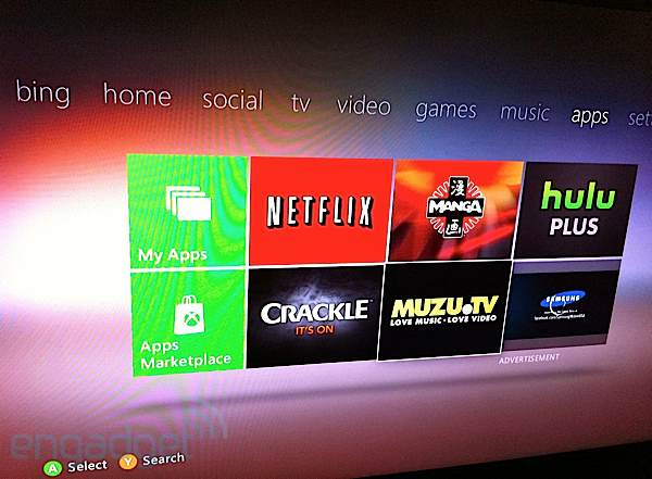 Microsoft rolling out new apps to Xbox 360, including Manga and Muzu.tv in the US