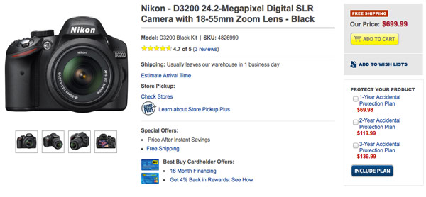 nikon d3200 on sale TECHPULSE May 2, 2012