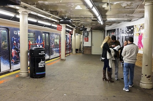New York City subway stop