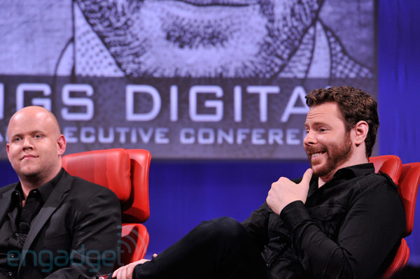 Daniel Ek and Sean Parker Spotify
