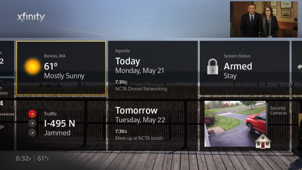 Comcast's 'Project Dayview' project does PDA duty across TV, phone, PC and tablet