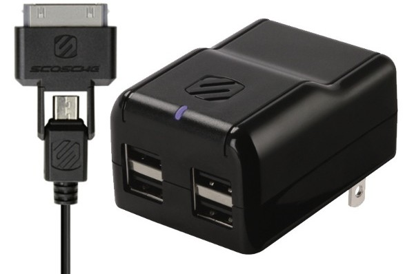 Scosche debuts Revolt H4, a four-port, 10W USB charger at CTIA Wireless