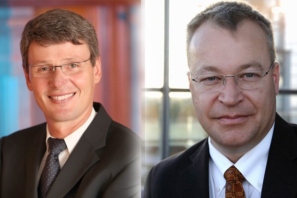 Thorsten Heins of RIM and Stephen Elop of Nokia