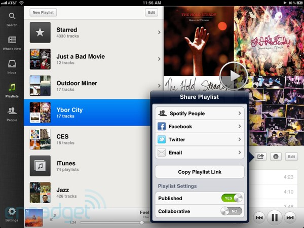 Spotify iPad app hands-on