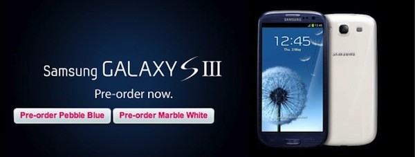 Samsung Galaxy S III now available for pre-order on T-Mobile UK