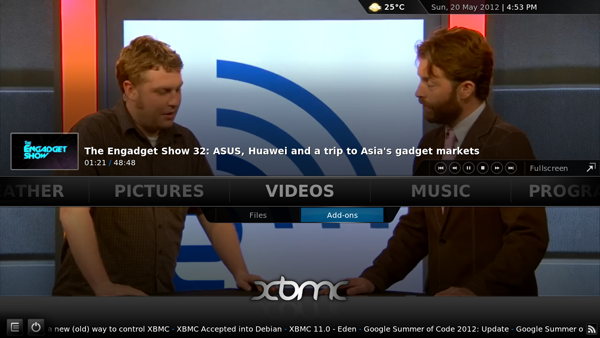 XBMC The Engadget show
