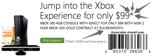 xbox 360 subsidzed deal