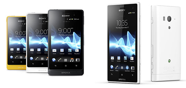 Sony Announces Xperia Go and Xperia acro S