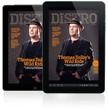 Distro Issue 43 has arrived with Thomas Dolby: TED talks, cell phone deals and the Floating City